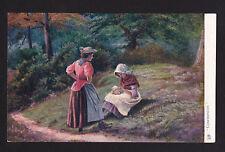 c1910 Tuck Country Life Confidences art landscape Uk postcard
