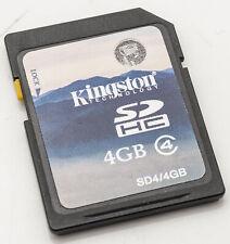 Kingston 4GB SD HC Karte Speicherkarte memory card class 4