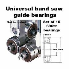 Universal Band Saw Guide Bearings (Set of 10 Bearings Only) Free Shipping
