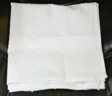 50-Inch Textured Square Tablecloth in White