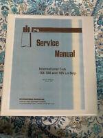 International Cub154 184 185 Lo Boy grass Mower Tractor Service Repair Manual IH