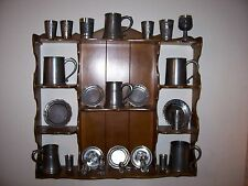 pewter collection-50 plus pieces including plates, clock, tankards and many more