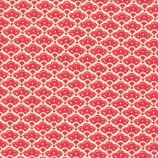 Moda Fig Tree Quilts Honeysweet Cobblestone Fan Fabric in Raspberry 20216-12