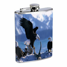 Eagle Flask D9 8 oz Stainless Steel Soaring Flying American Bird of Prey