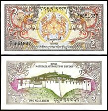 Bhutan 2 NGULTRUM ND 1986 P 13 UNC
