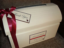 IVORY/WHITE DIAMANTE WEDDING POST BOX HEART WEDDING CHEST EVERY COLOUR NEW
