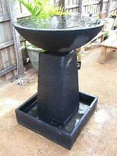 LARGE CONTEMPORARY BOWL AND PEDESTAL WATER FEATURE - BUY IMPORTER DIRECT