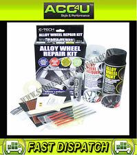 E-Tech BLACK Car Alloy Wheels Refurbishment Wheel Spray Paint Lacquer Repair Kit