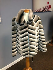 Rex Rabbit (Chinchilla) Jacket with Designer Pattern. New! Designer Piece!