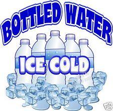 "Ice Cold Bottled Water Drink Beverage Concession Beverage Food Truck Decal 14"""