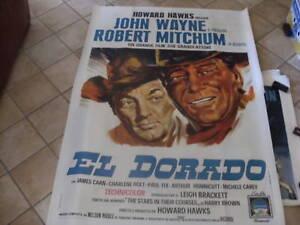 MANIFESTO EL DORADO JOHN WAYNE ROBERT MITCHUM 1967