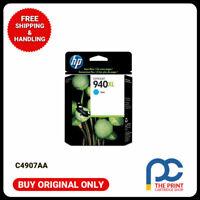 New & Original HP C4907AA #940XL CYAN Ink Officejet 8000-A809a/A811a 8500 8500A