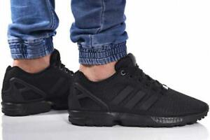 ADIDAS ZX FLUX BLACK S32279 MEN STYLE NEW CLASSIC TRAINERS SNEAKERS  GENUINE