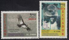Upaep Ecuador 1344A/1344B 1995 vultur arpia pájaro bird fauna MNH