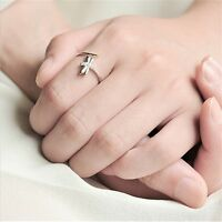 Sale Fashion Women With Cubic Zircon Rings 925 Sterling Silver Adjustable Ring