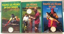 Trois livres de Pêche: Eau douce, Brochet, Mer - Editions Ouest-France