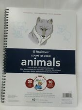 "Strathmore Learn to Draw Animals Pad 40 Acid Free Sheets 9"" x 12"" New"