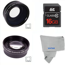 WIDE ANGLE MACRO LENS +TELEPHOTO ZOOM LENS +16GB SD CARD FOR NIKON D3400 D5600