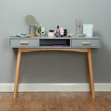 Grey Scandinavian Modern Bedroom Dressing Table Makeup Vanity/Home Office Desk