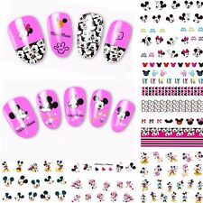 12 Sheets Mickey Mouse Water Transfer Nail Art Stickers Decals Decoration A384