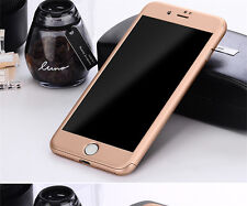 360° Protective Hard Thin Case Cover+Tempered Glass For Apple iPhone 6 6S 7 Plus