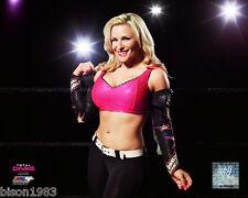 Total Divas Natalya WWE Sexy 8x10 photo studio pink top Hart Dynasty Legendary