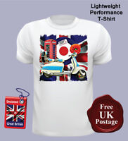 Lambretta Scooter T Shirts, Men's, Lambretta, Union jack, Mod, Target, Poppy,