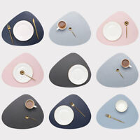 Placemat Table Mat Tableware Pad PU Leather Waterproof Heat Insulation Non