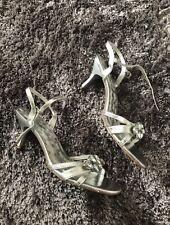 Women's Silver shoes by Belle ladies Diamanté Stilettos high heels size 6
