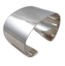 Gran ancho de plata esterlina 925 Pulsera Brazalete En Caja De Regalo