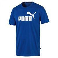 Puma Essentials 853400 Blue T-Shirt Male Mens T Shirt Tee Logo Top Bnwt - New
