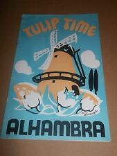 "ALHAMBRA THEATRE "" TULIP TIME "" ORIGINAL 1935-36 PROGRAMME RARE"
