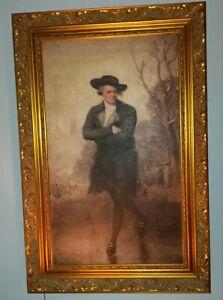 """Gilbert Stuart,""""The Skater"""" Portrait of William Grant,1782 oil  22x33"""
