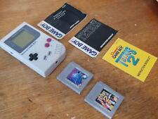 ORIGINAL NINTENDO GAMEBOY CONSOLE DMG-01 2 x games Tetris, 1 & 2 Excellent