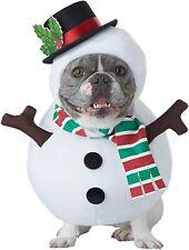 Snowman Frosty Christmas Holiday Fancy Dress Up Halloween Pet Dog Cat Costume