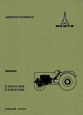 Werkstatthandbuch Deutz Getriebe für D6206