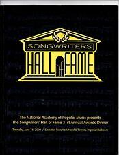 Brian Wilson,Don Henley-Glenn Frey,Curtis Mayfield Songwriters' Hall Program Vg+