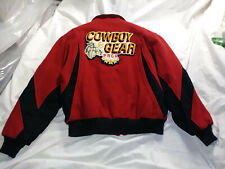 Pro Rodeo Jacket Coat Mens Red Wool by Cripple Creek with PRCA Patch back Medium