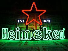 New Vtg Heineken Beer 3-D Curved Led Star ✰ Est 1873 Bar Sign Light Pub Tavern $