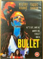 Bullet DVD 1995 Crime Thriller Rare with Mickey Rourke and Tupac 2Pac Shakur