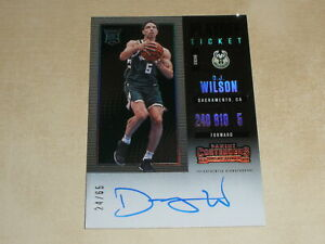 2017-18 Panini Contenders Playoff Ticket RPS Autograph Auto D J Wilson 24/65 RC