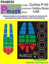 Curtiss P-40 Pintura Máscara Para Hobby Boss Kit #48032 1/48 pmask