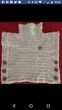 crochet poncho - handmade aran pullover **SALE**