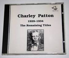 CD album CHARLEY PATTON Remaining Titles 1929/1934 ** EXC ** Blues