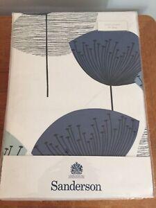 "New Sanderson Dandelion Clocks Panama Lined Curtains Blue 66""x72"" rrp £170.00"