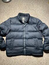 Timberland Mens Coat Size XL Black Puffer Zip Down Parka