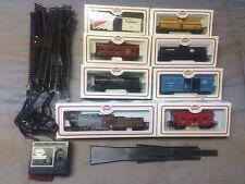 Train Set~HO Scale AMAZING rare  set with tracks 8 trains, tracks READY TO USE