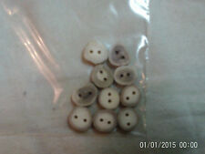 Lot of 10 Deer Antler buttons, sanded with holes