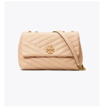 Tory Burch Kira Chevron Convertible Shoulder Bag - SMALL - Devon Sand- Brand New