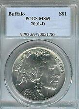 2001-D Buffalo Commemorative Silver Dollar : PCGS MS69